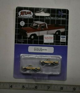 N Scale Atlas 60000095 * 1973 Ford F-100, Sequoia Brown/Wimbledon White * Pkg. 2