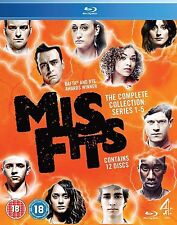 Misfits Complete Channel 4 TV Series 37 Episodes Series 1 2 3 4 5 + Blu Ray New
