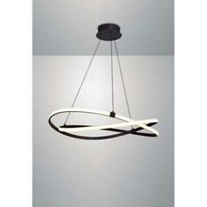 Suspended Lights To LED Modern Design Aluminum And Acrylic Tan Brown