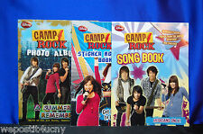 3 Camp Rock Activity Books Jonas Brothers Stickers Song Book Photo Album