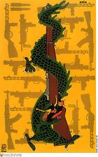 Political POSTER.ASIAN Japanese Dragon Rifle.Japan.Cold war Art Graphics.asia 31