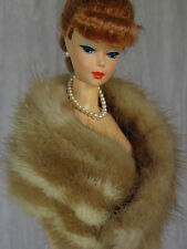 "AllforDoll mottled Mink Fur Boa for 11.5"" Vintage Silkstone Barbie Fashion Dolls"