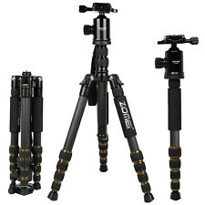 Light Weight Carbon Fiber Tripod Monopod &Ball Head Stand for Camera Black