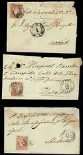 Lote de 6 Cartas/Frontales Clásicas.Isabel II. Dirigidas a Madrid