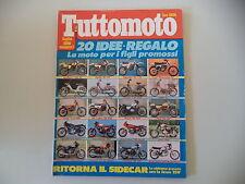 TUTTOMOTO 7/1980 SWM TL 125 NW/CIMATTI OASI 50/JAWA 350 SIDECAR/HONDA CBX 1000