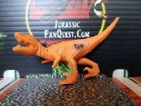 Jurassic Park Velociraptor Hasbro Dinosaur Prototype ORANGE