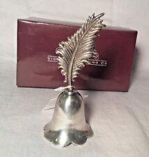 VICTORIAN TRADING CO Silver Plated Metal Leaf Dinner Bell New In Box India