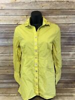SOFT SURROUNDINGS Long Sleeve shirt Size small Womens Yellow Button Down Blouse