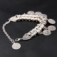 Beach Bracelet Metal Tassel Foot Chain Yoga Ethnic Summer Charm Coin Anklets FM