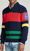 Polo Ralph Lauren Men's Striped Cotton Shawl Sweater - Size M