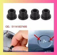 4 X Bmw Bonnet Boot Grommets Badge Stopper 51141807495 Fit For 82MM 74MM
