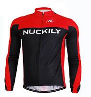 Men Pro Team Club Race Bike Long Sleeve Jersey Cycling Shirt Top Wear Breathable
