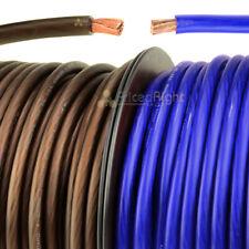 20' Ft Super Flexible 4 Gauge Power Ground Wire Cable 10 Ft Blue 10 Ft Black