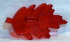 Vintage HRM Red Plastic Cookie Cutter - Oak Leaf Fall Thanksgiving Nature