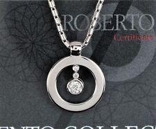 $4,800 Roberto Coin Cento 18K White Gold 0.27ct Diamond Pendant 16'' Necklace
