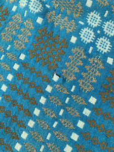 Vintage Welsh Tapestry Blanket