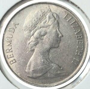 1970 Bermuda - 5 Cents Copper-Nickel Coin - Elizabeth II - Angel Fish