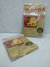 2 Waterproof Reusable Lunch Box Leakproof Insulated Brown Paper Tyvek Lunch Bag