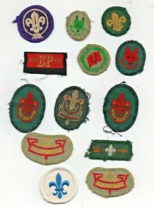 Collection of Vintage BOY SCOUT CLOTH- PATCH BADGES