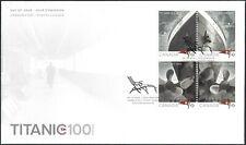 Canada   #2534 Block   TITANIC     Brand New 2012  Unaddressed Cover