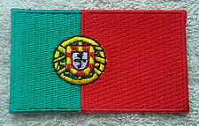 PORTUGAL FLAG PATCH Embroidered Badge Iron or Sew on 4.5cm x 6cm Portuguesa NEW