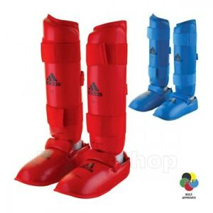 adidas Official WKF Approved Karate Shin instep guard Pad/Protector Foot Guard