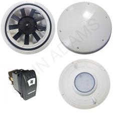 Ventilador de ventilación de bajo perfil Motorizado 12 V Van Bus Caravana Caballo Perro Para Mascota De Techo Válvula