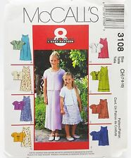 Girls Summer Church Party Dress Jacket Pattern 3108 Size 7 8 10 McCalls New