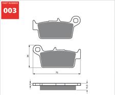 Rear Sintered Brake Pads Fits SUZUKI DRZ400E 2000 2001 2002 2003 2004 SF7