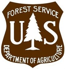 US FOREST SERVICE STICKER / DECAL BROWN