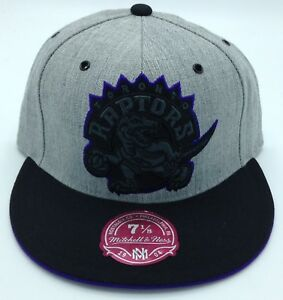 NBA Toronto Raptors Mitchell and Ness Fitted Cap Flat Brim Adult Hat M&N NEW