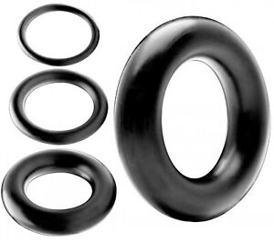 SINGLE SOLID RUBBER Penis Cock Ring Thin Thick Mega Donut Basic Male Sex Toys