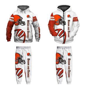 Cleveland Browns 2Pcs Jogging Suit Casual Tracksuit Sportswear Sweat Suit Set