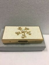Vintage Trickettes by Wiesner of Miami Faux Pearl Cigarette Pill Case Box Wallet