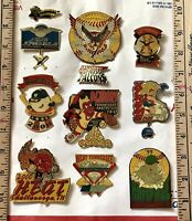 Vtg. Lot Of 10 Chattanooga Tennessee Fastpitch Little League Youth Softball Pins