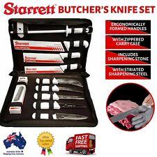 Starrett Professional Butchers Knife Set in Carry Case 11 Piece - Bkk-11w