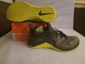 Nike Metcon Flyknit 3 Men Shoes AQ8022-407 Sequoia Bright Citron Size 7