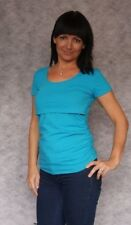 UK14 TURQUOISE BASIC SIMPLE JERSEY SHORT SLEEVE CLASSIC NURSING TOP