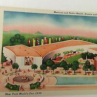 VTG 1939 New York World's Fair Postcard Medicine Public Health Science Education