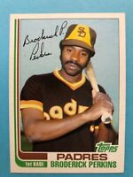 1982 Topps Baseball Card #192 Broderick Perkins San Diego Padres