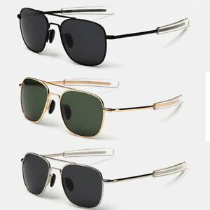 Aviator Sunglasses Premium Military Pilot Ultraviolet Mens Polarized Sunglasses