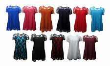 Waist Length Lace Stretch Floral Tops & Shirts for Women