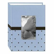 Pioneer 4 x 6 Photo Album Embroidered Fabric Baby Blue