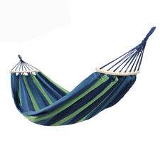 Double Hammock Camp Nylon Outdoor Travel Camping Swing Hanging Bed Canvas Swing