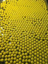 200 New Yellow Rubber Reusable Target Paintballs- Free Shipping