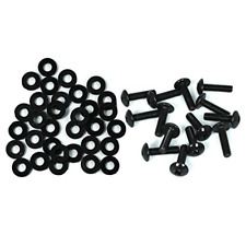 "Tch Hardware 25 Pack Rack Rail Mounting Screws & Washers - Black 10-32 x 3/4"" -"