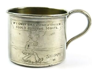 Honor/'s Baby Silver Plated Cup wBox~Child/'s Drinking Cup~Toddler/'s Cup w Plastic Lid~Antique Baby Cup~Mug~Teddy Bear Design on Cup