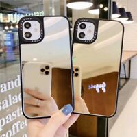 For iPhone 12 11 Pro Max XS XR 8 7 SE Shockproof Makeup Mirror Phone Case Cover