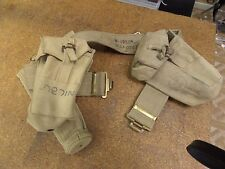 6 Day War 1967 Israeli Military Belt , Rifle  Pouch Set and Holster