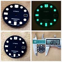 Watch Dial Green Luminous Dial Kalender für NH35 NH36 Automatikwerk 28.5MM Set